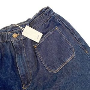 NWT Zara baggy jeans with paper bag waist